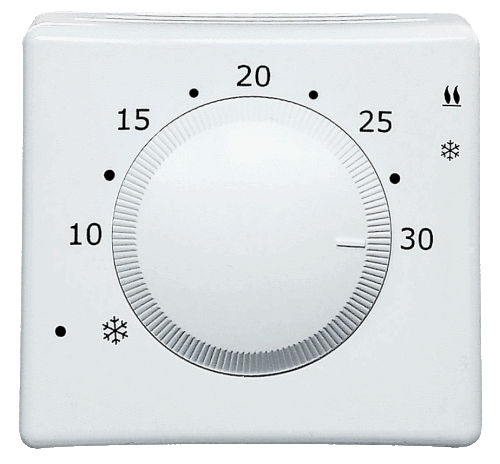 Thermostat d'ambiance mécanique TH1008 Climatisation Chauffage Gainable